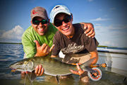 Kyle Velunza holds a sweet bonefish