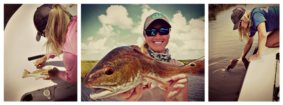 Novalsky tagging Louisiana redfish