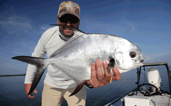Florida keys fly fishing for permit is successful with Capt Will benson